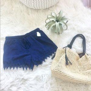 NWT Hobie lace fringe style shorts